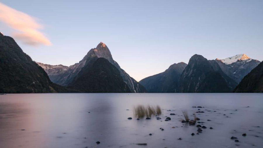 Photo Lever de soleil Milford Sound en Nouvelle Zélande | Blog Vincent Voyage