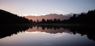 lever de soleil lac matheson nouvelle zelande blog vincent voyage