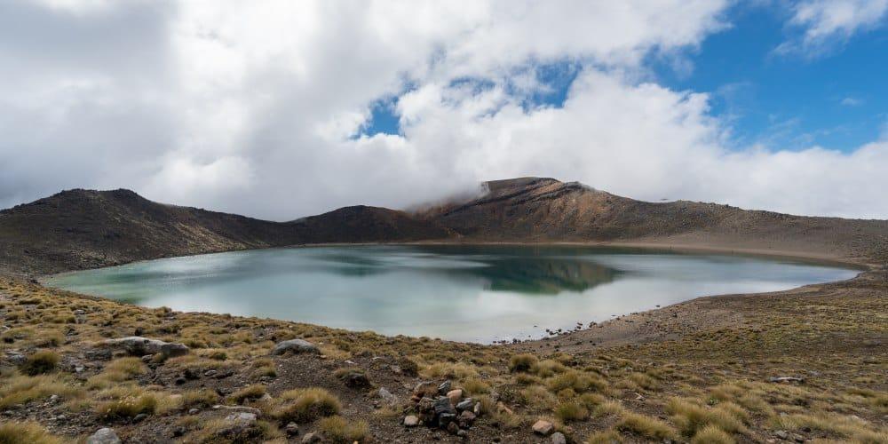 blue lake randonnée tongariro volcan Nouvelle Zelande | Blog Vincent Voyage