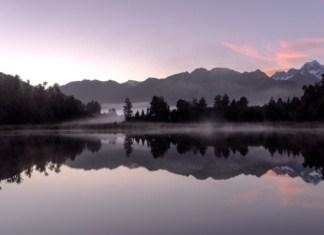 lac lake matheson Nouvelle Zélande lever de soleil sunrise | Blog Vincent Voyage