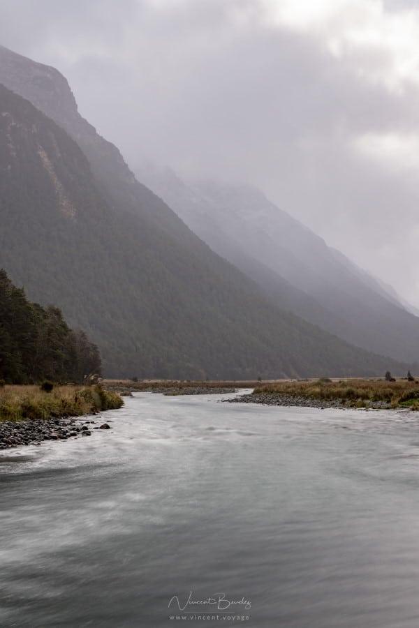 Route Milford Sound Nouvelle Zélande