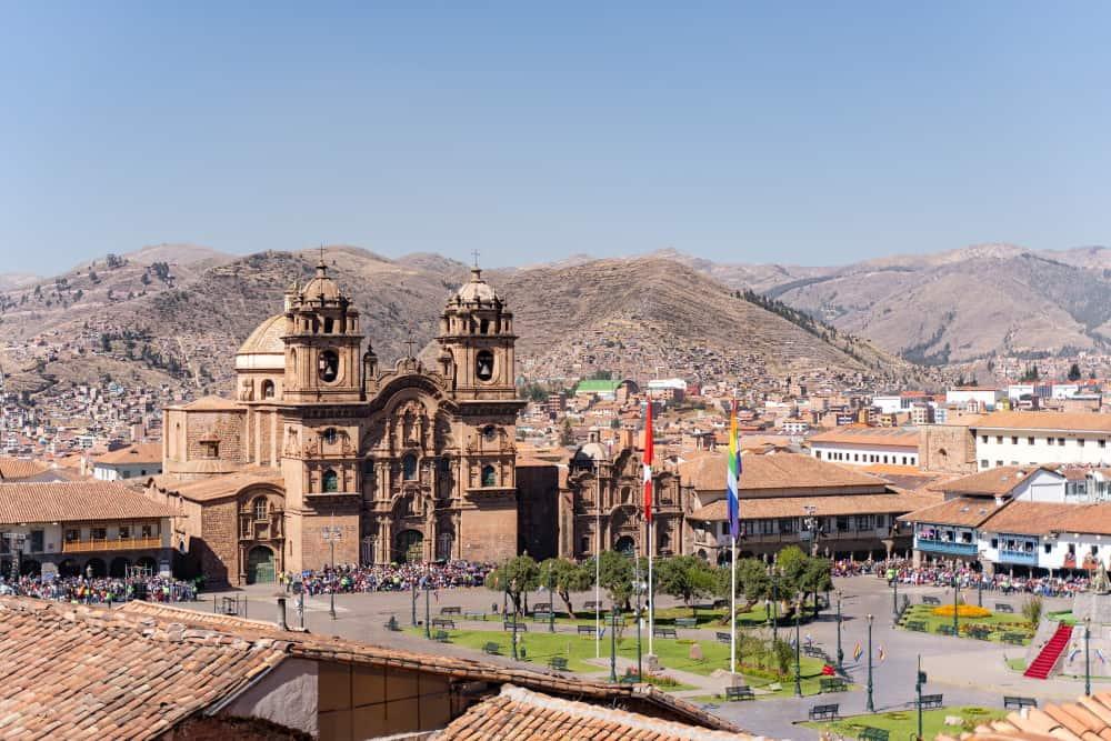 Cusco Place des armes au Pérou
