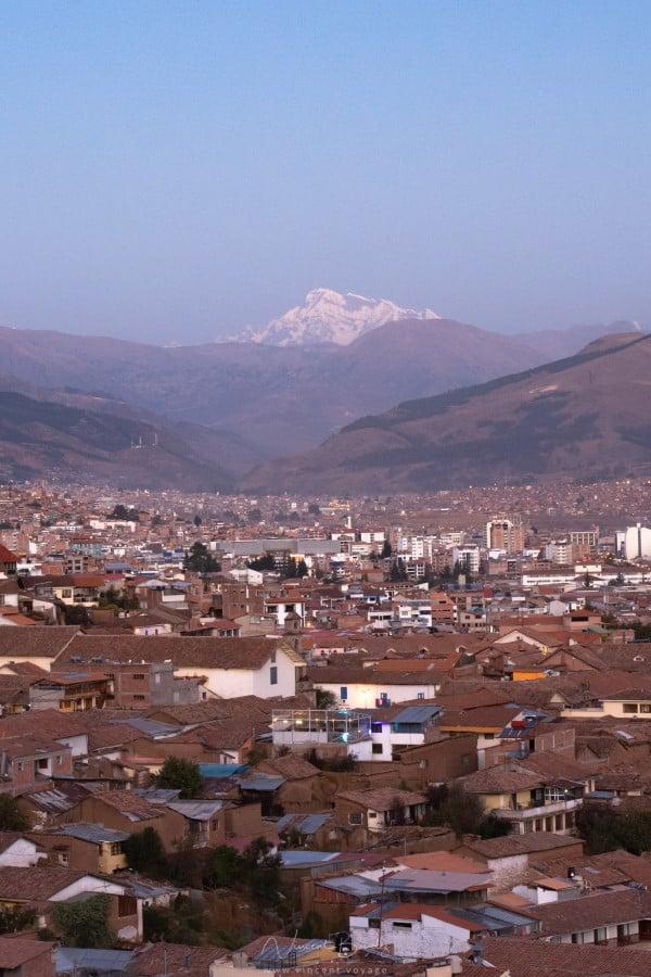 Coucher de soleil à Cusco au Pérou