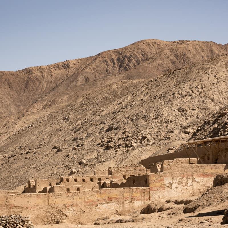 Site Inca de Tambo Colorado à Pisco au Pérou