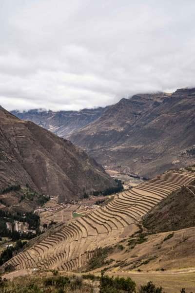 cite pisac montagnes cusco perou vallée sacrée