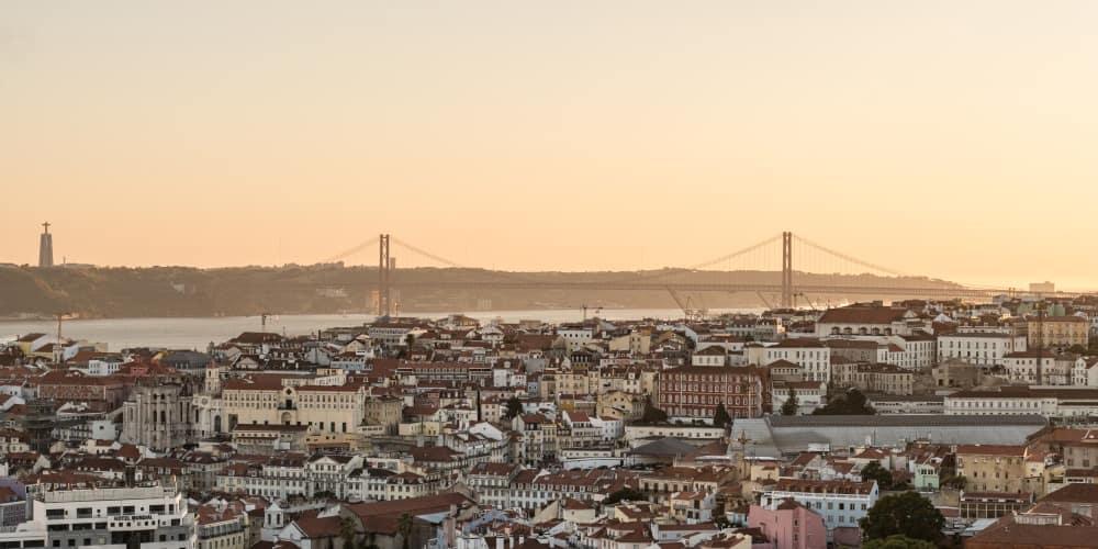 coucher de soleil Lisbonne mirador pont portugal | Blog Vincent Voyage