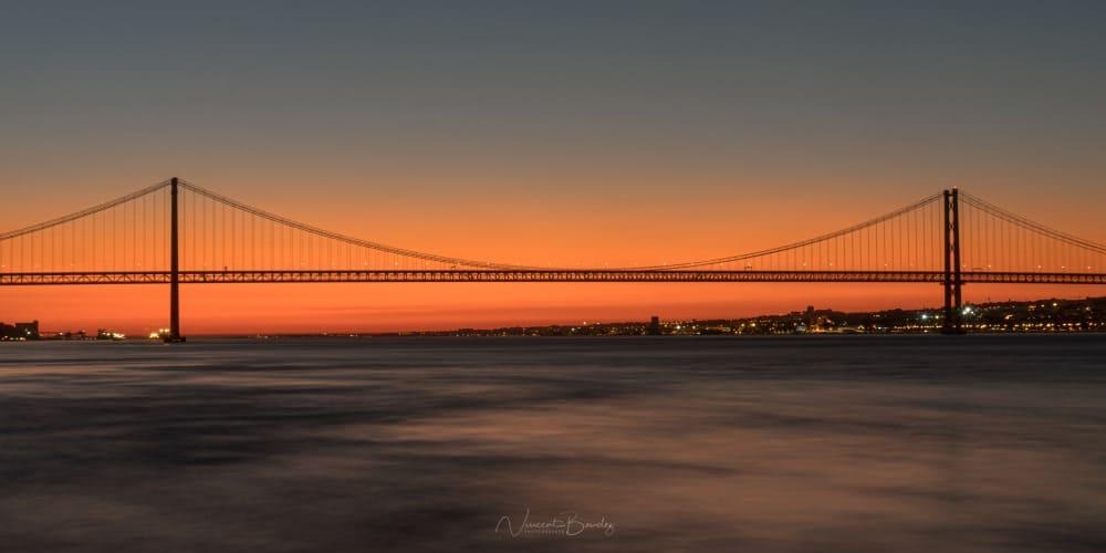coucher de soleil pont 25 avril lisbonne au portugal | Blog Vincent Voyage