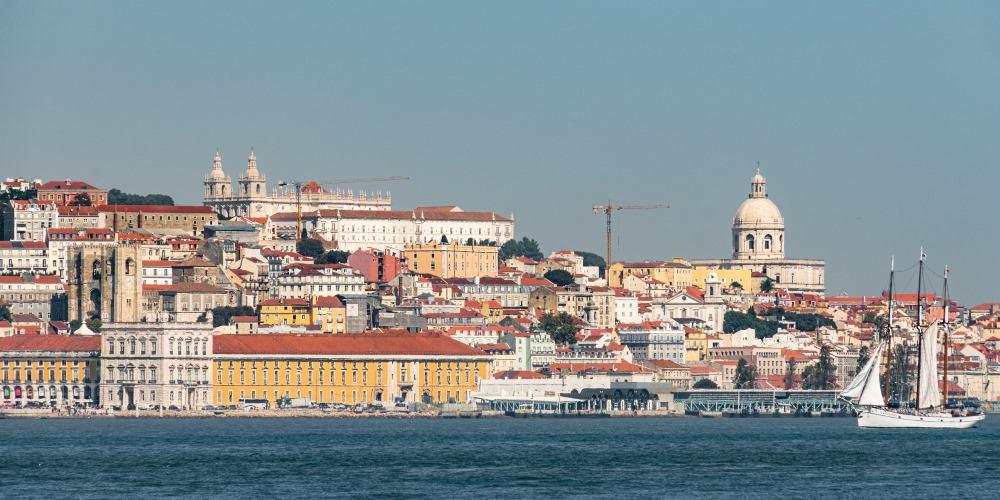 vue lisbonne centre ville tage portugal | Blog Vincent Voyage