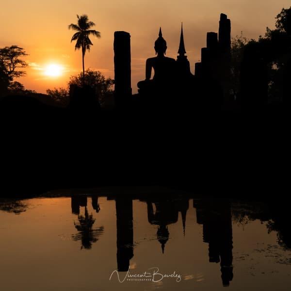 coucher de soleil sukhothai thailande blog vincent voyage