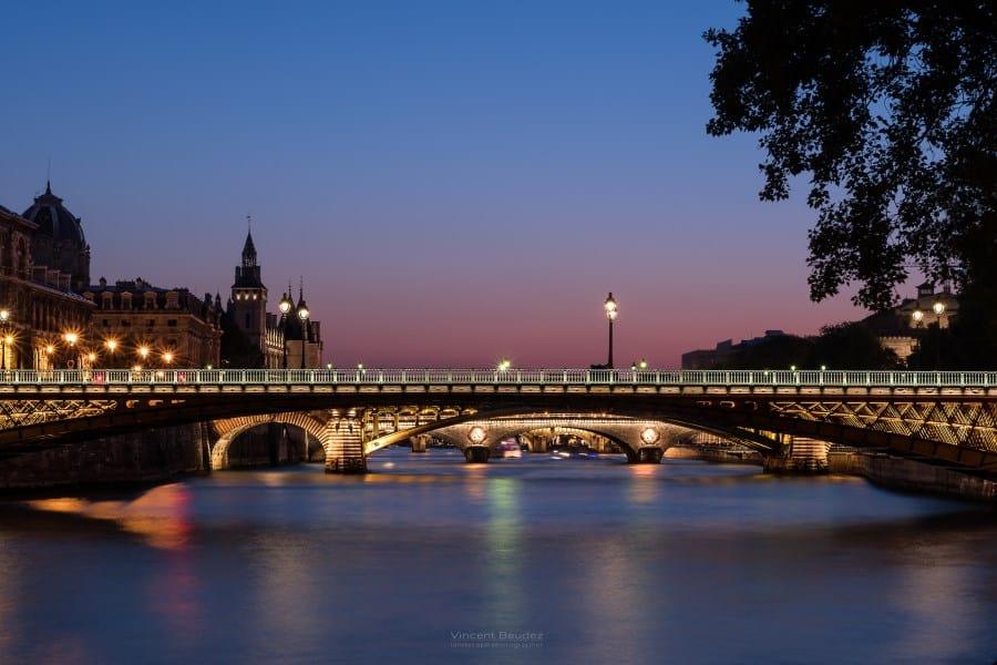 Balade coucher de soleil Paris quai de seine Ponts France | Blog Vincent Voyage