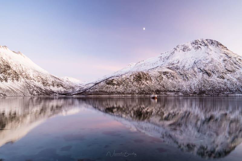 coucher de soleil norvege senja