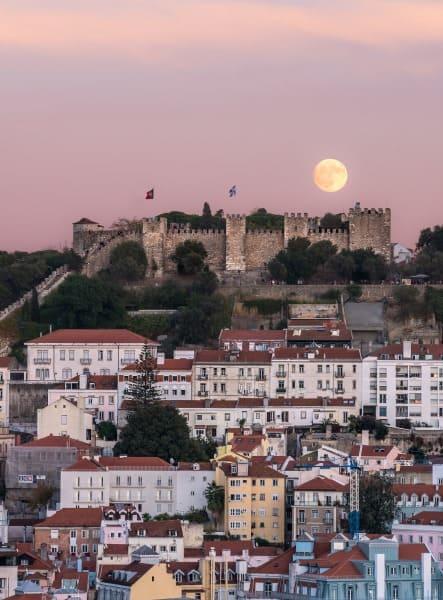 coucher de soleil lisbonne portugal