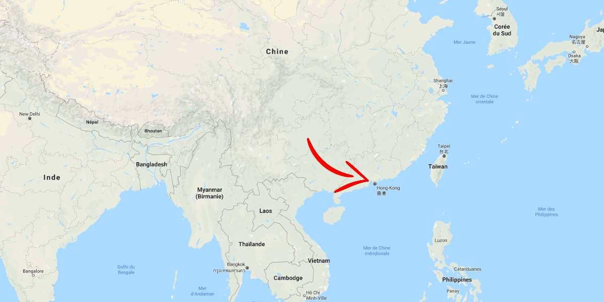 carte hong kong Asie | Blog Vincent Voyage