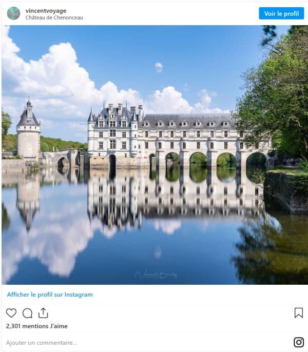 Chateau de Chenonceau photo instagram