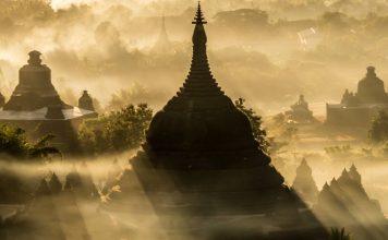 mrauk u temples sunset coucher de soleil Birmanie Myanmar | Blog Vincent Voyage